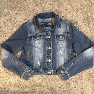 Maurice's Factory Distressed Jean Jacket Small